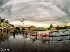 Walt Disney World Boardwalk after the rain